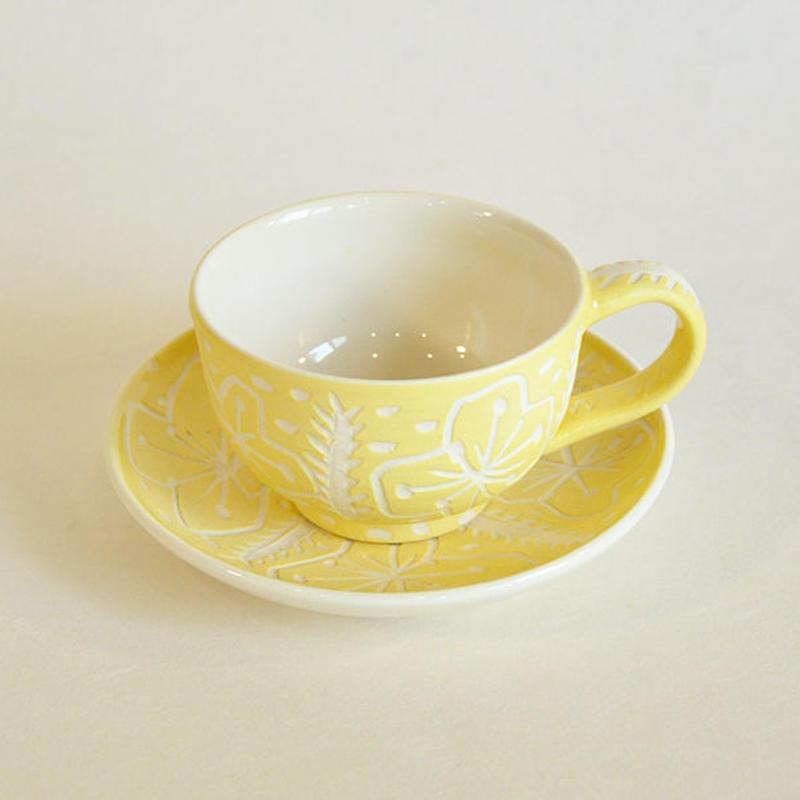 黄色の花|カップ&ソーサー