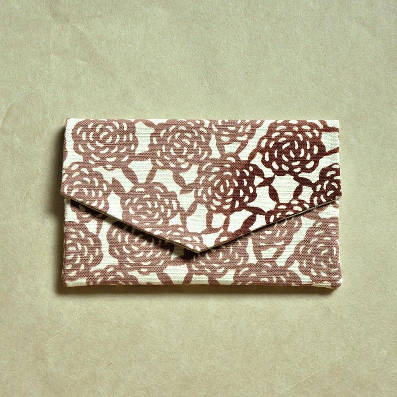型染布ふくさ|無量花 梅鼠(単色)
