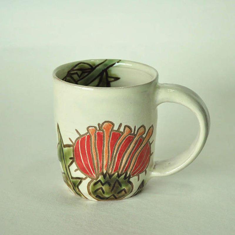 アザミのマグカップ