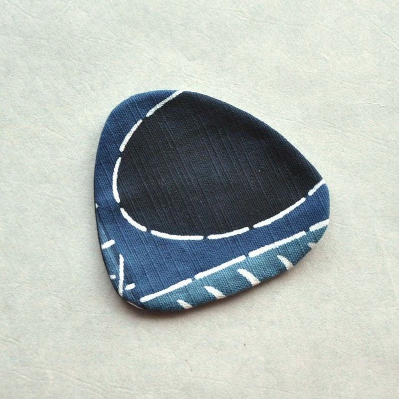 型染おむすびコースター|民布Ⅱ(多色)青