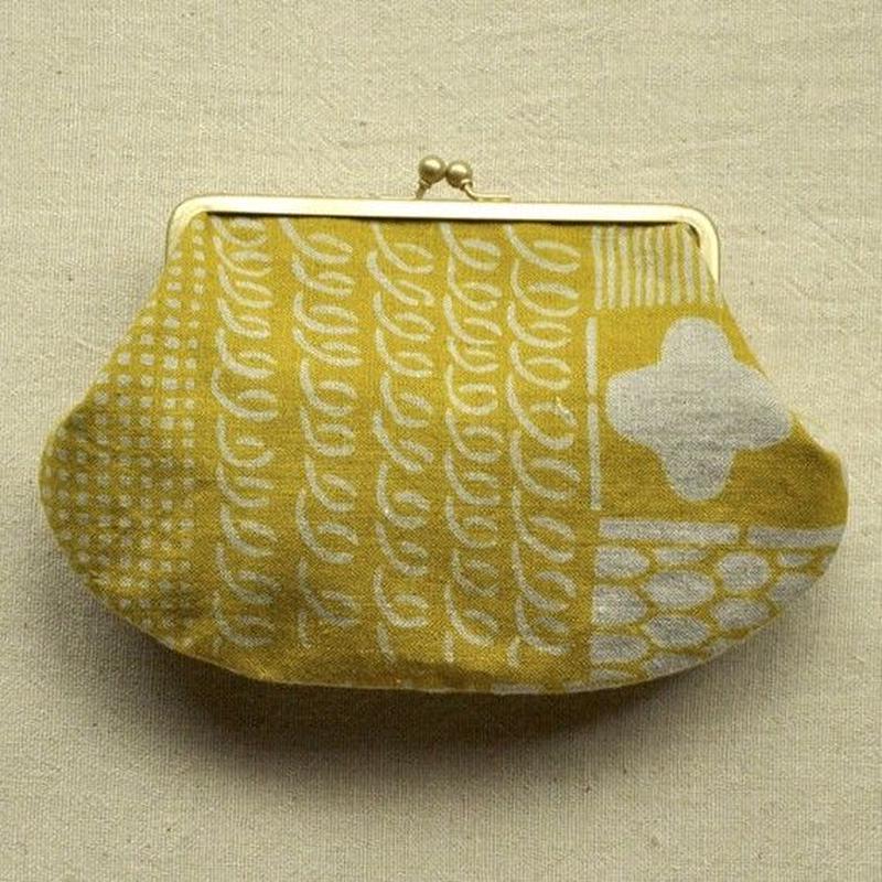 大ガマグチ|花布 黄色(単色)