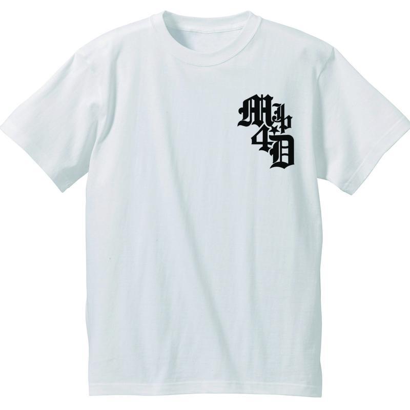 M4D シンプルTシャツ タイプ-B (ホワイト)