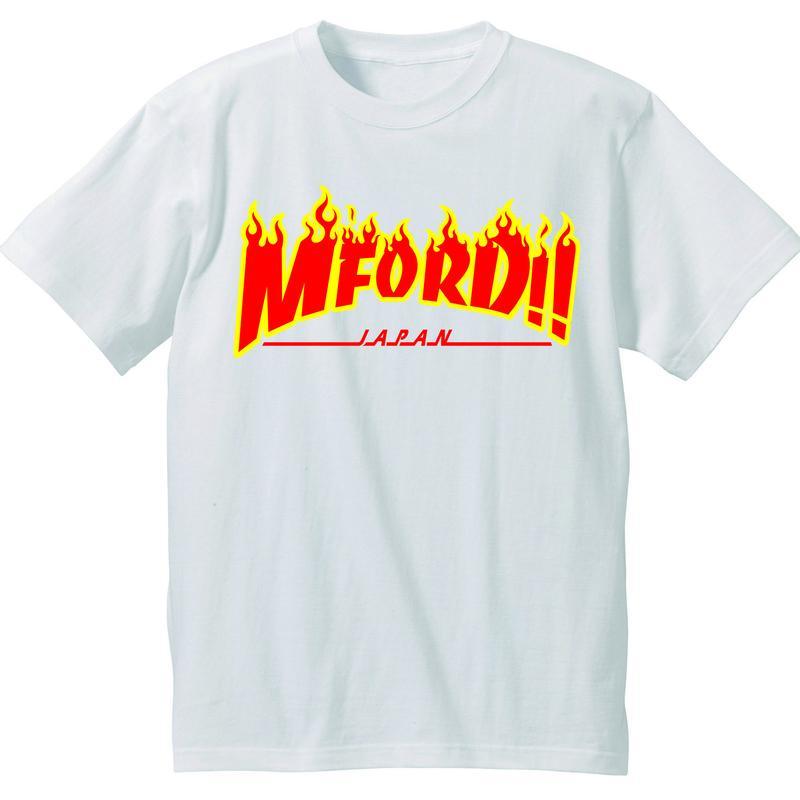 2017年M4DJAPAN公式Tシャツ WH/RD