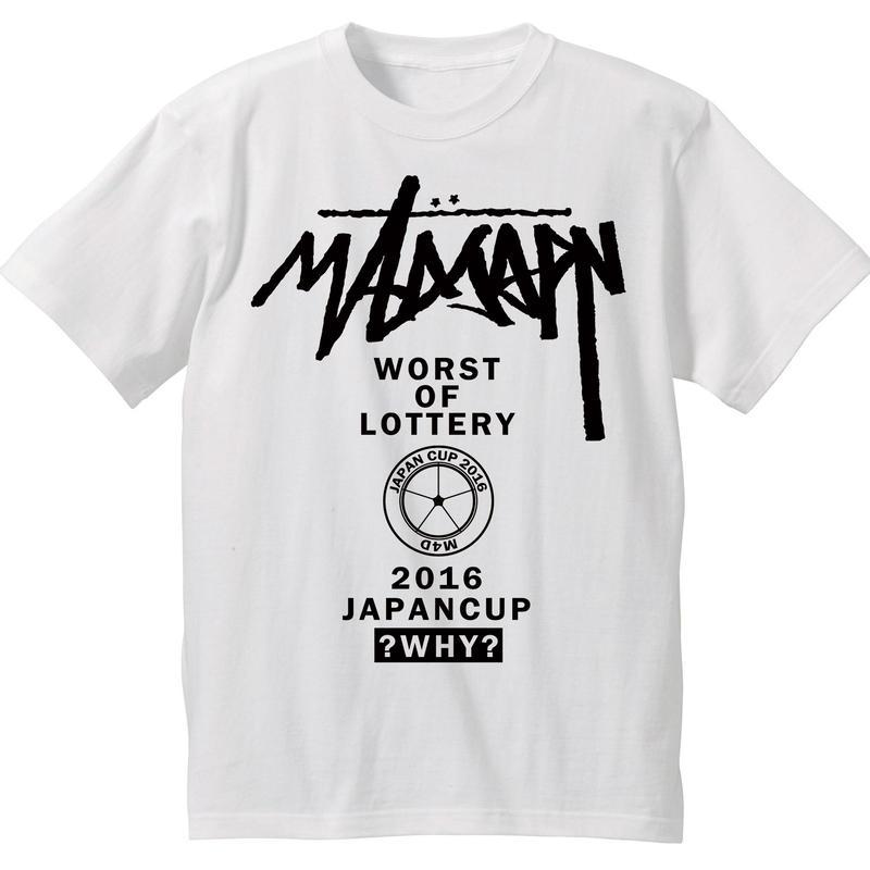 期間限定セール M4D JCTシャツ2016(ホワイト-ブラック)