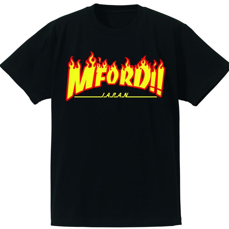 2017年M4DJAPAN公式Tシャツ BK/YE