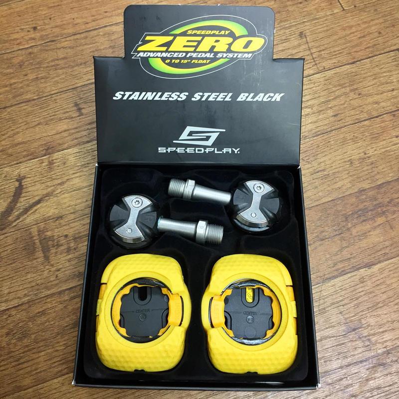 SPEEDPLAY ZERO ステンレスシャフトペダル ブラック 53mm