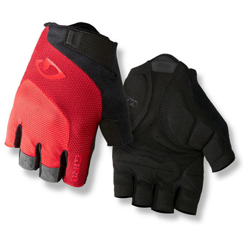 軽くて快適な万能モデル GIRO CYCLING GLOVES  BRAVO GEL Bright Red