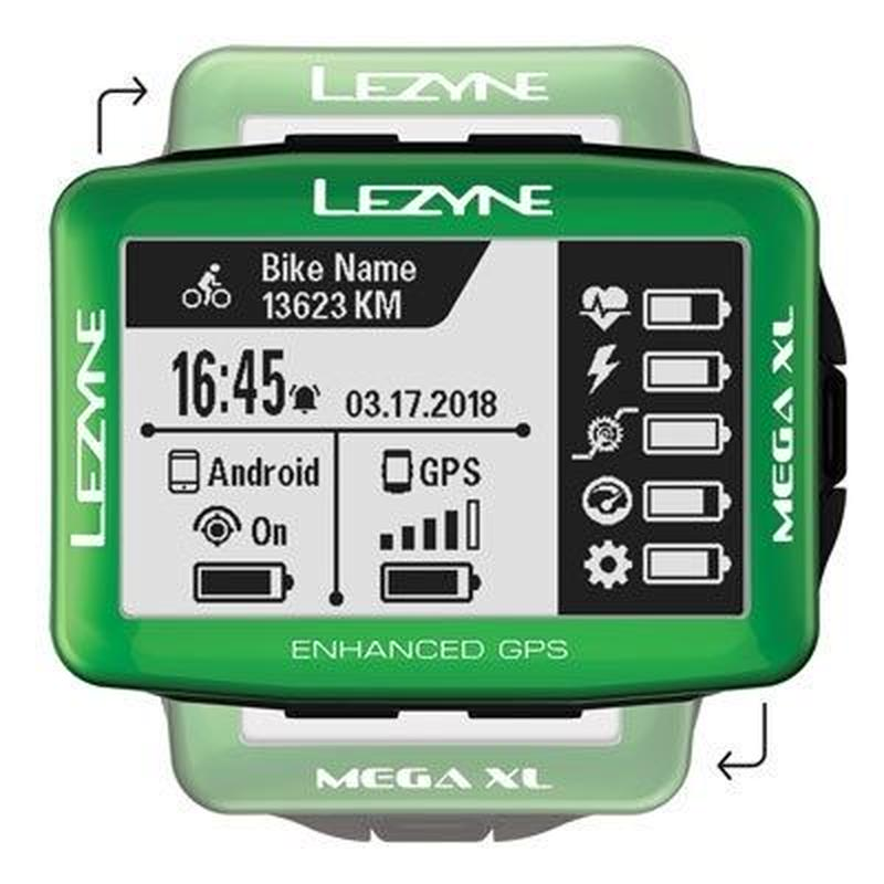LEZYNE MEGA XL GPS Limited Green  Edition 日本語対応モデル