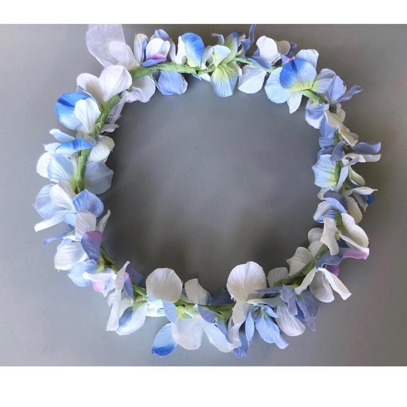 爽やかなブルーの花冠
