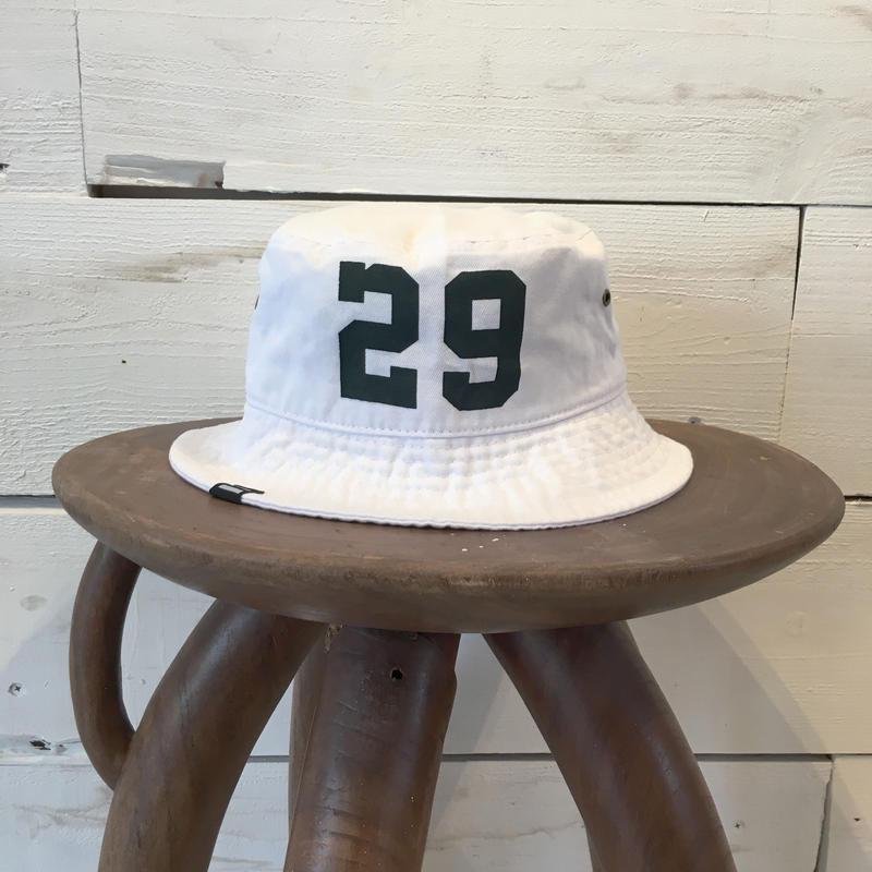 CLASSIC BUCKET HAT / White × Dark Green