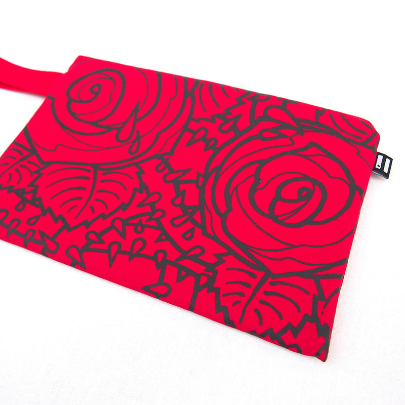 """KW's """"ROSE"""" Clutch Bag / Red"""