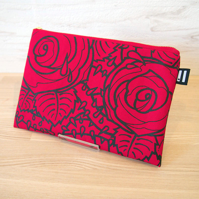 """KW's """"ROSE"""" Pouch / Red"""