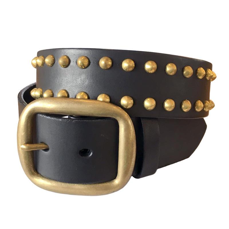 Leather Studs Belt / Black