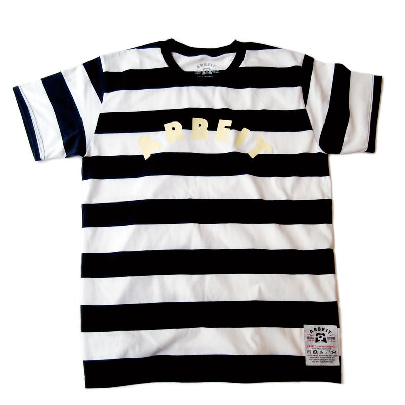 ARBEITunderground./Striped Tee (BLACK x WHITE)