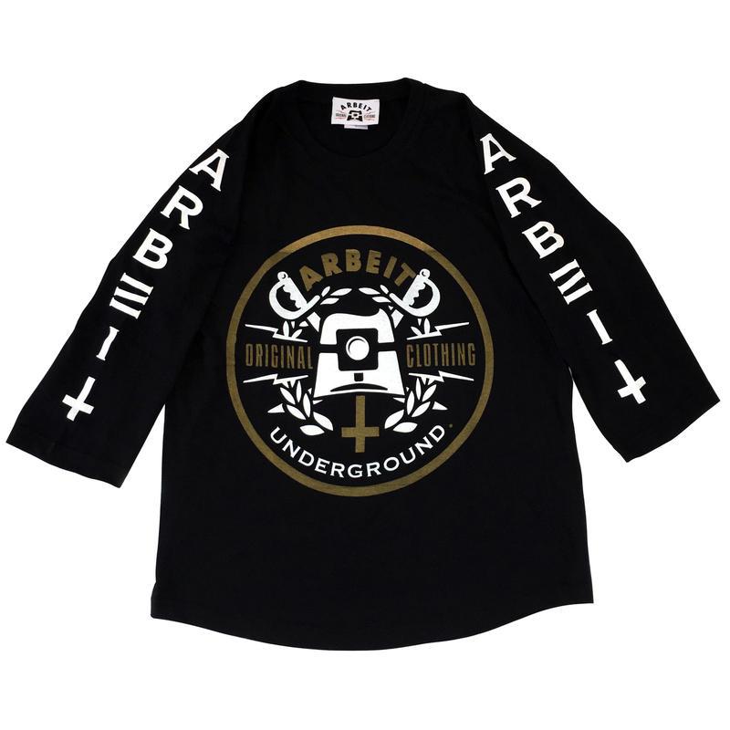 【ARBEIT underground.】 ラグラン3/4スリーブ Tシャツ