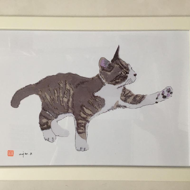 川上麻衣子作。猫の絵cocolo