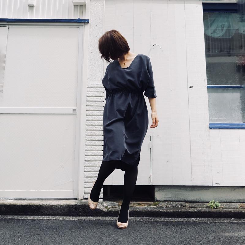 七分袖フレアーワンピース/3colors