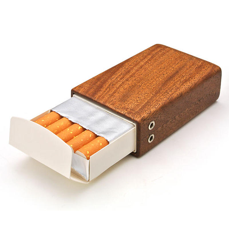 for Cigarettes Short Package/木製タバコケースショート用