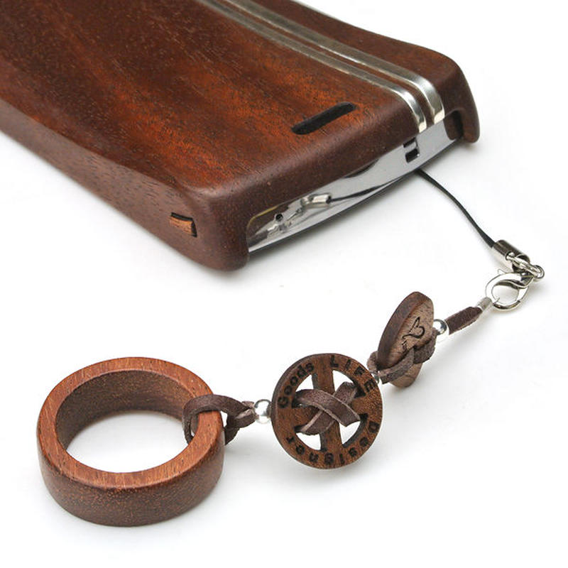 Ring Strap03 木製リングストラップ