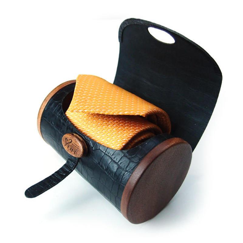 Necktie Case 01 マホガニーのデザインネクタイケース