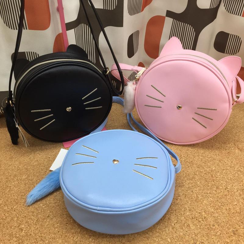 SALE ネコちゃん ショルダーバッグ ブルー