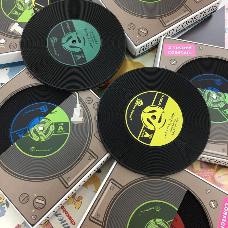 レコードコースター 2枚セット RECORD COASTER 2P SET