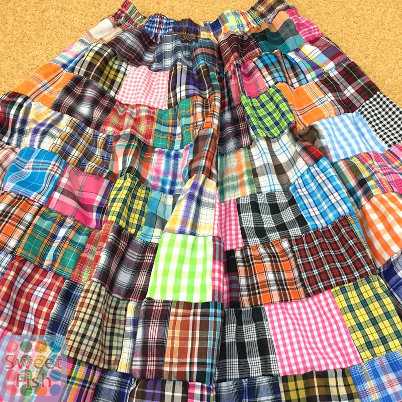 パッチワーク ロングスカート