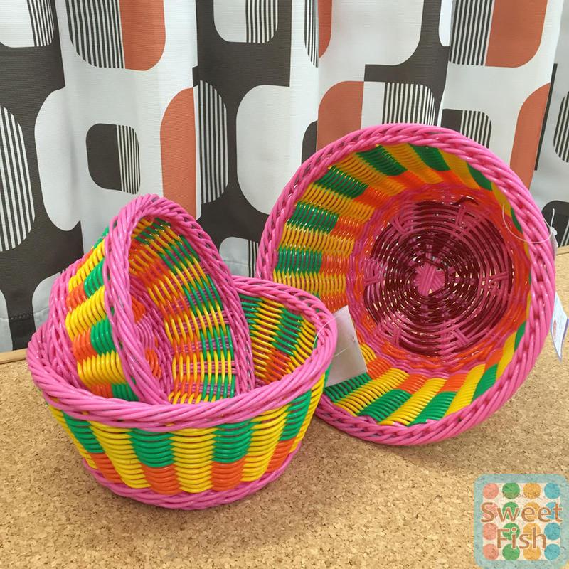 ミニバスケット 3コセット Basket set of 3 【kitschkitchen】