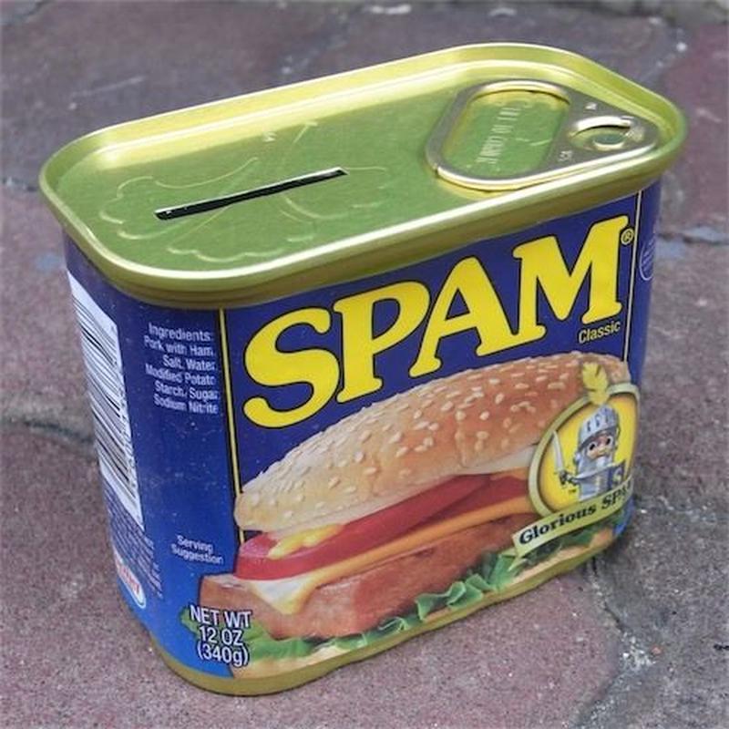 SPAM BANK 貯金箱