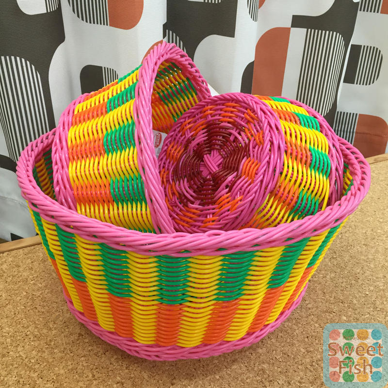 フルーツバスケット 3コセット Basket FRUIT set of 3 【kitschkitchen】