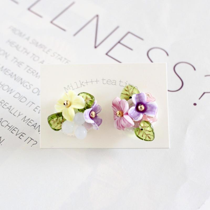 「祝福の花束」ピアス