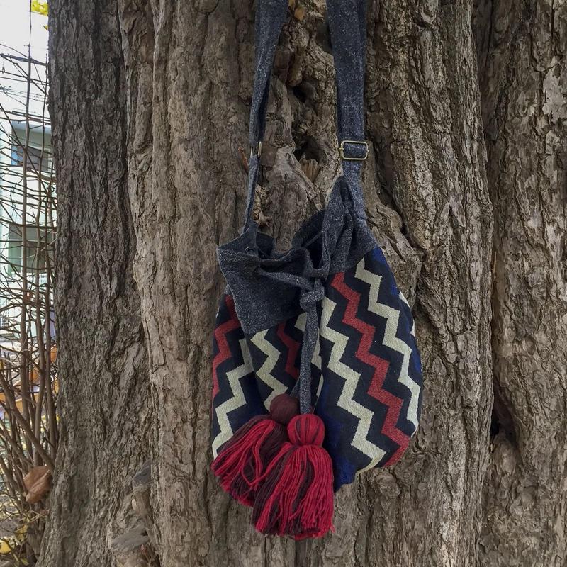 strip design 3ways bag