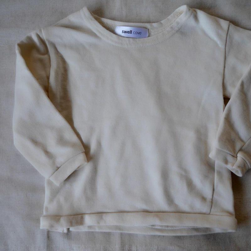 【swellcove】Cotton Sweat Tops White
