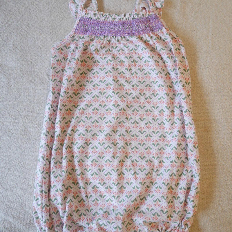 【carter's】 Mini  Frower  Embroidery  Romper