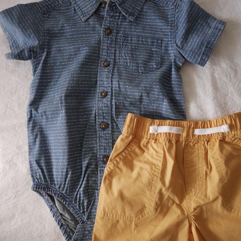 【carter's】2-piece Denim Romper & Shorts