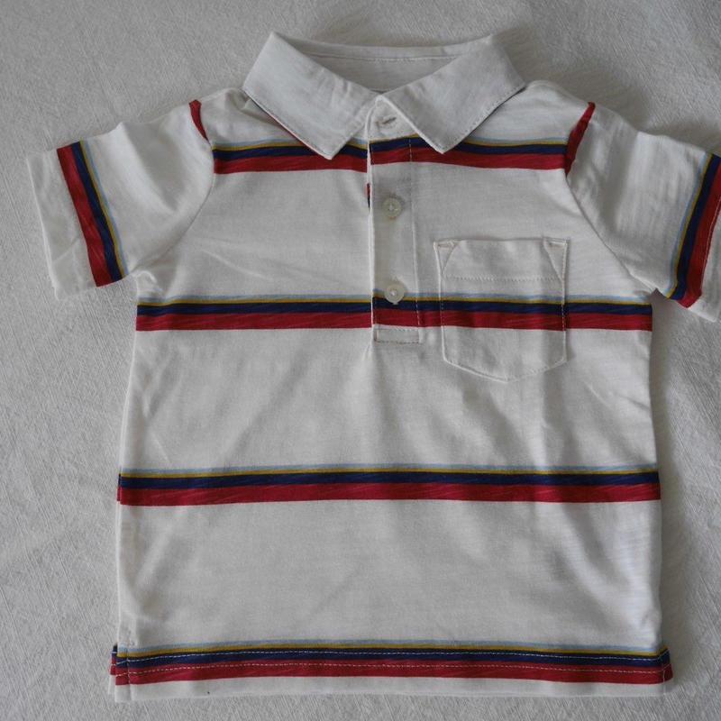 【carter's】 Stripe  Red&White  Polo Tshirt