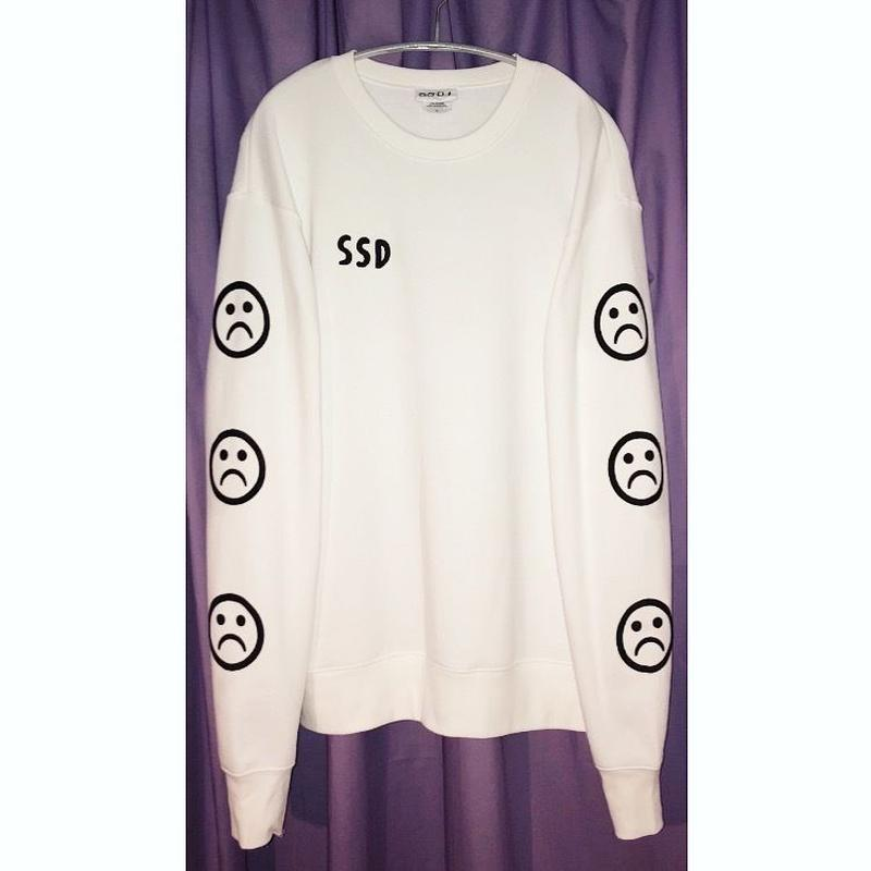 SSD sad smile sweat/white