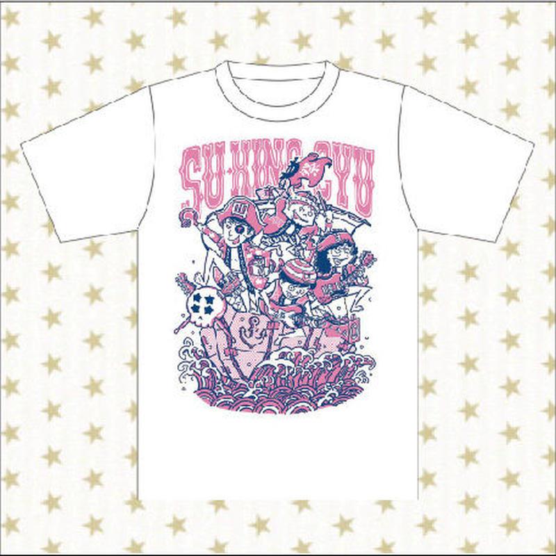 パイレートTシャツ【ホワイト】