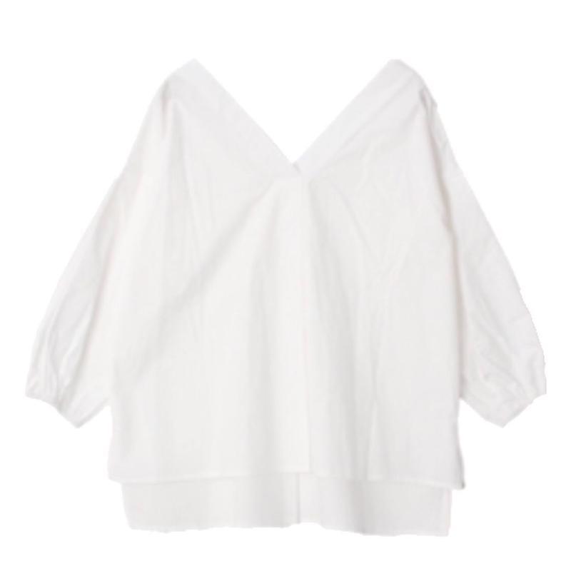 ボリューム袖 コットンシャツ
