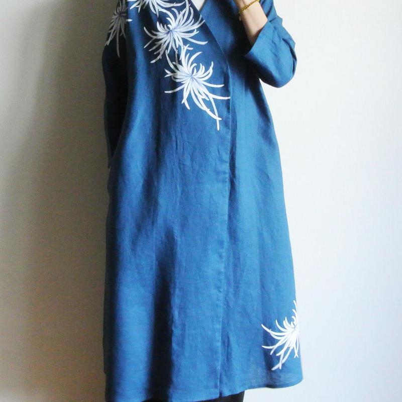 リネン羽織り・乱菊