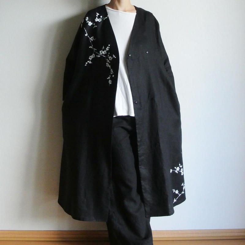リネン羽織り・白梅 <予約販売>