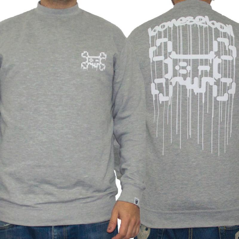 TOSHO [ |+ -| ] BONES2BOIL grey sweatshirt