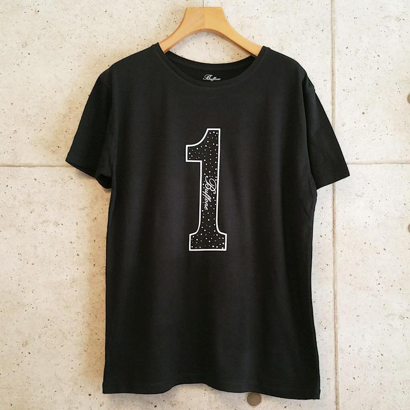 【BUFFONE】No.2 Black/スワロフスキー T-Shirt