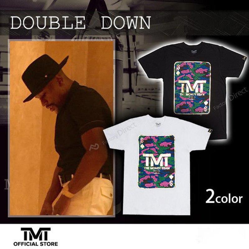 【THE MONEY TEAM】DOUBLE DOWN トランプ柄 White T-Shirt