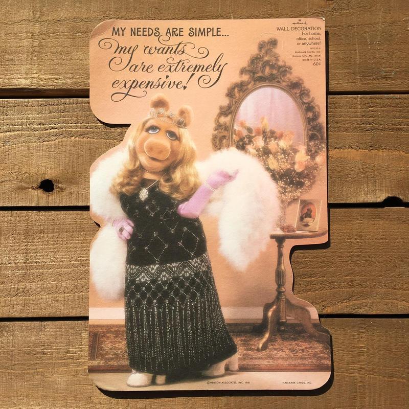 THE MUPPETS Miss Piggy Paper Wall Deco/マペッツ ミス・ピギー ペーパーウォールデコレーション/190120-6