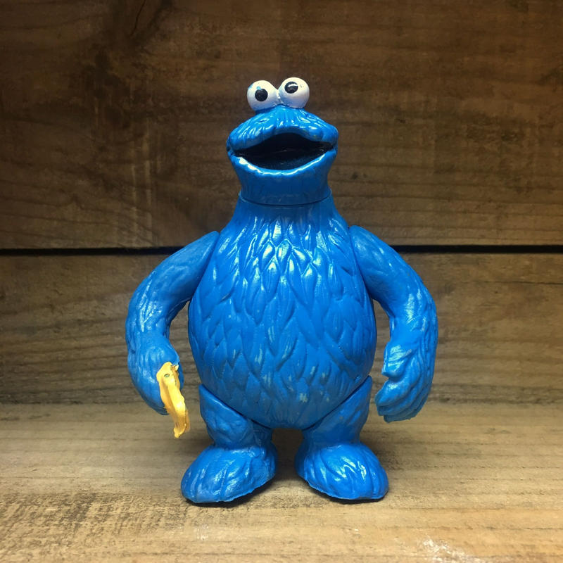 SESAME STREET Cookie Monster Figure/セサミストリート クッキーモンスター フィギュア/181220-13