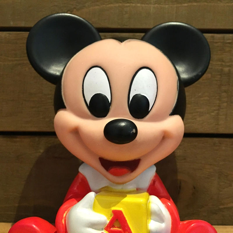 Disney Baby Mickey Mouse Squeaky Toy/ディズニー ベイビー・ミッキー スクアーキートイ/190606-22