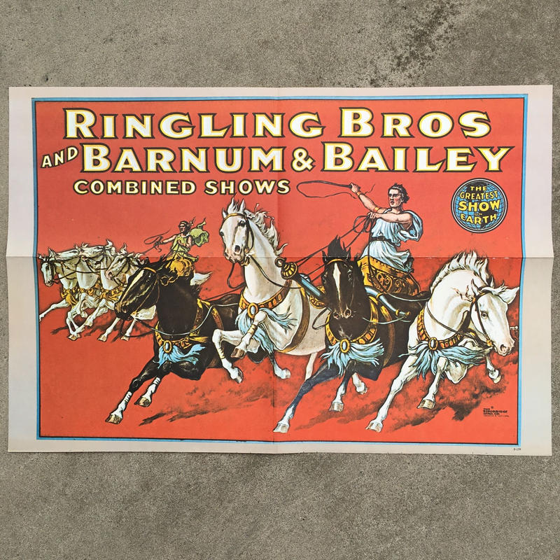 Ringling Bros. and Barnum & Bailey Circus Poster/バーナムのサーカス ポスター/180720-10