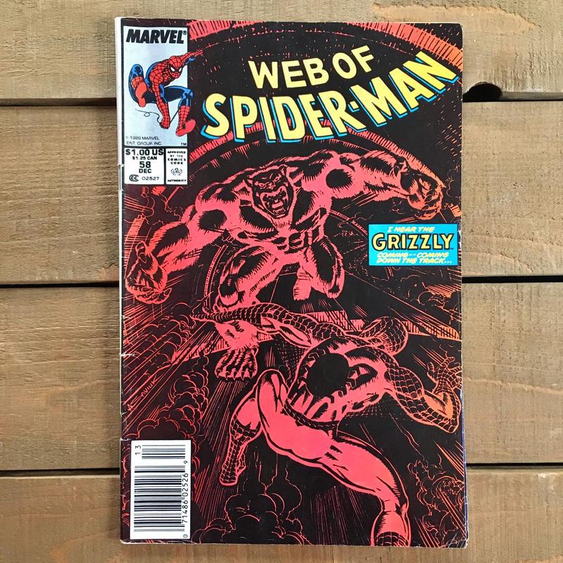 SPIDER-MAN Web of Spider-man Comics 1989.Dec.58/スパイダーマン コミック 1989年12月58号/190228-2