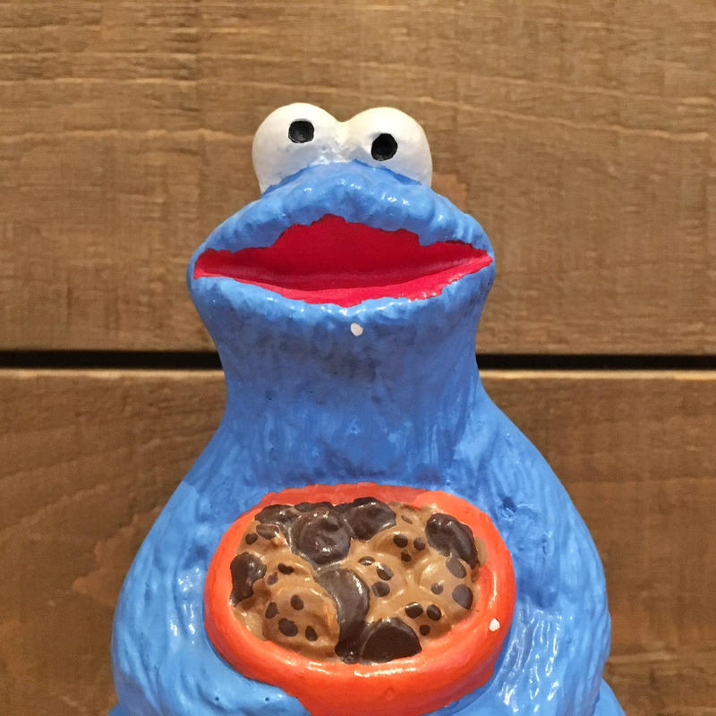 SESAME STREET Cookie Monster Ceramic Figurine/セサミストリート クッキーモンスター セラミックフィギュアリン/190529-2